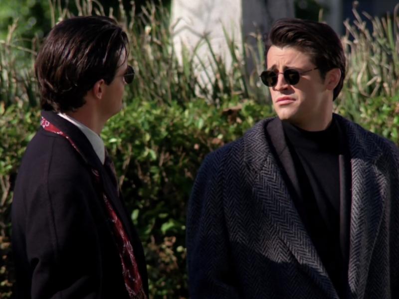 Joey looking a little like Johnny Bravo